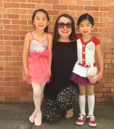 With their kindergarten teacher